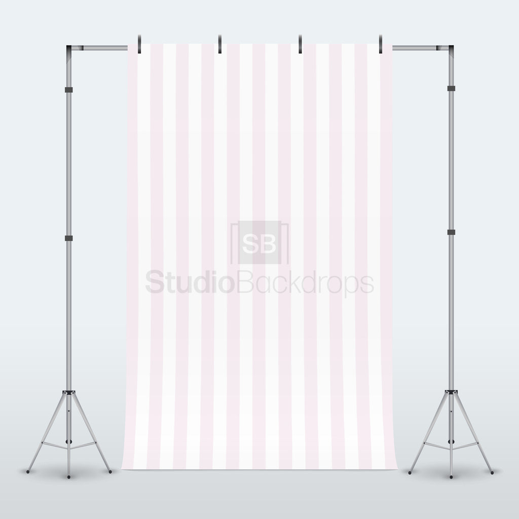 Clearance Grade A - Pink Cream Stripe Photography Backdrop BD-107-STR