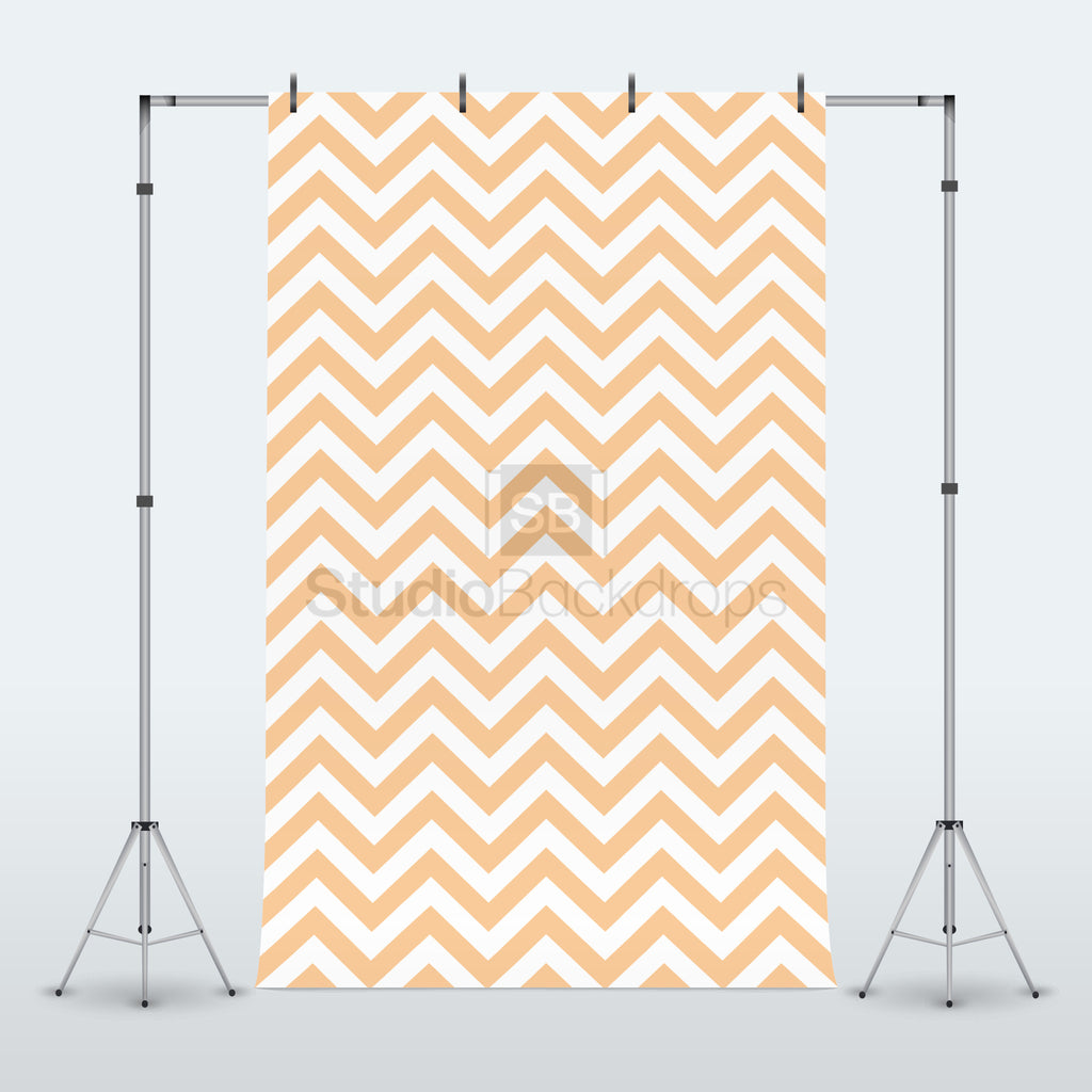 Orange Chevron Photography Backdrop