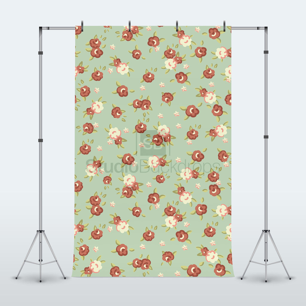 Flower Pattern Photography Backdrop