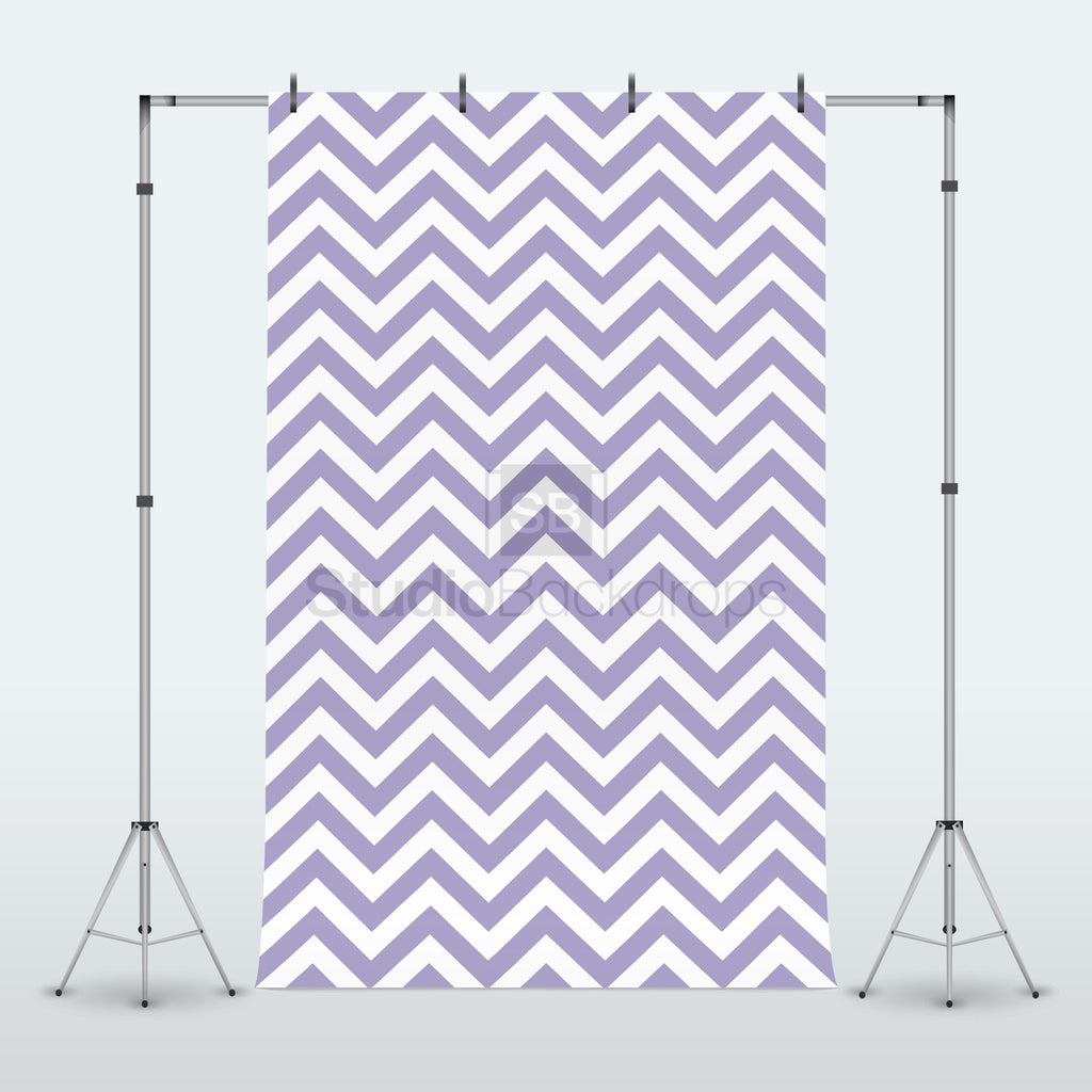 Purple Chevron Photography Backdrop