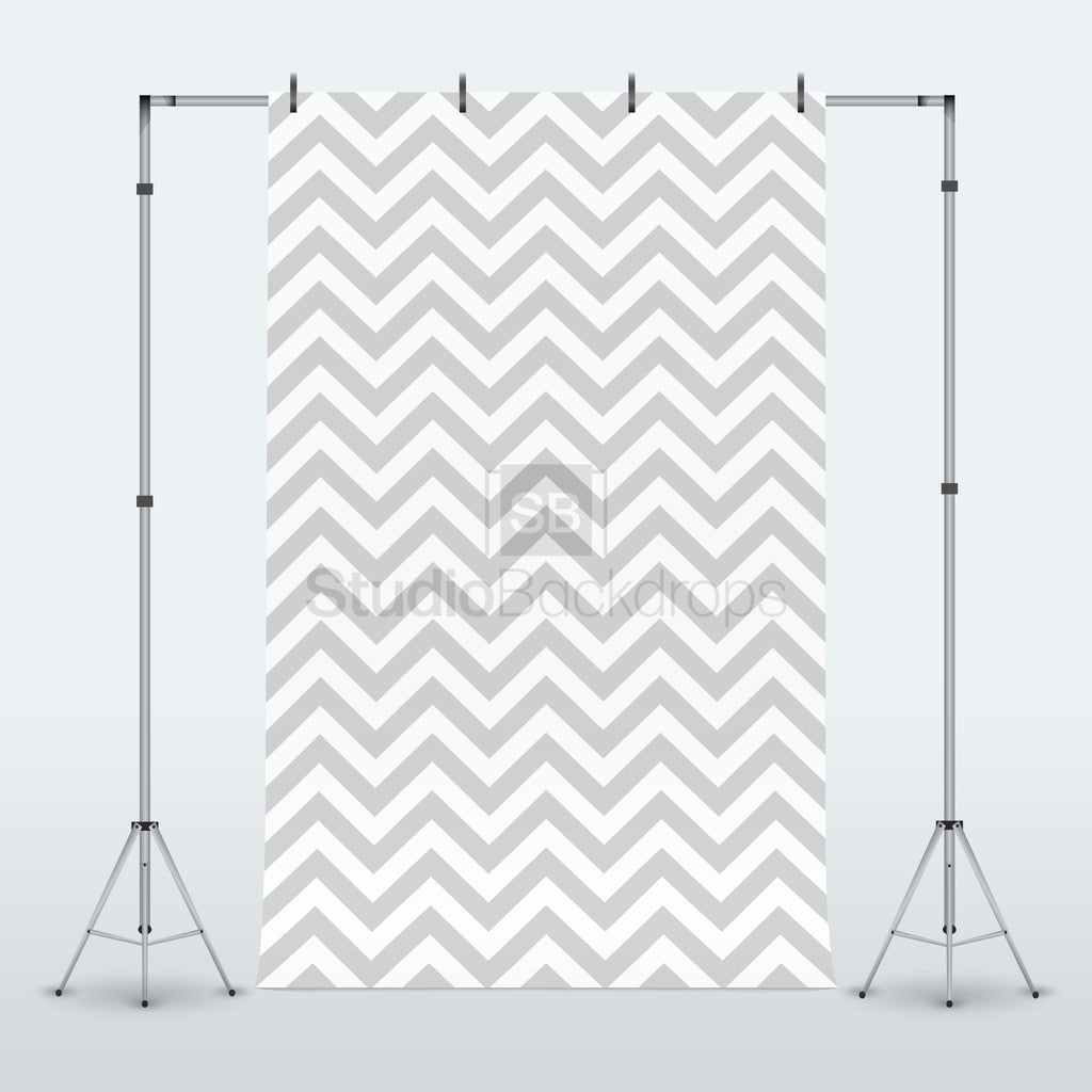 Grey Chevron Photography Backdrop