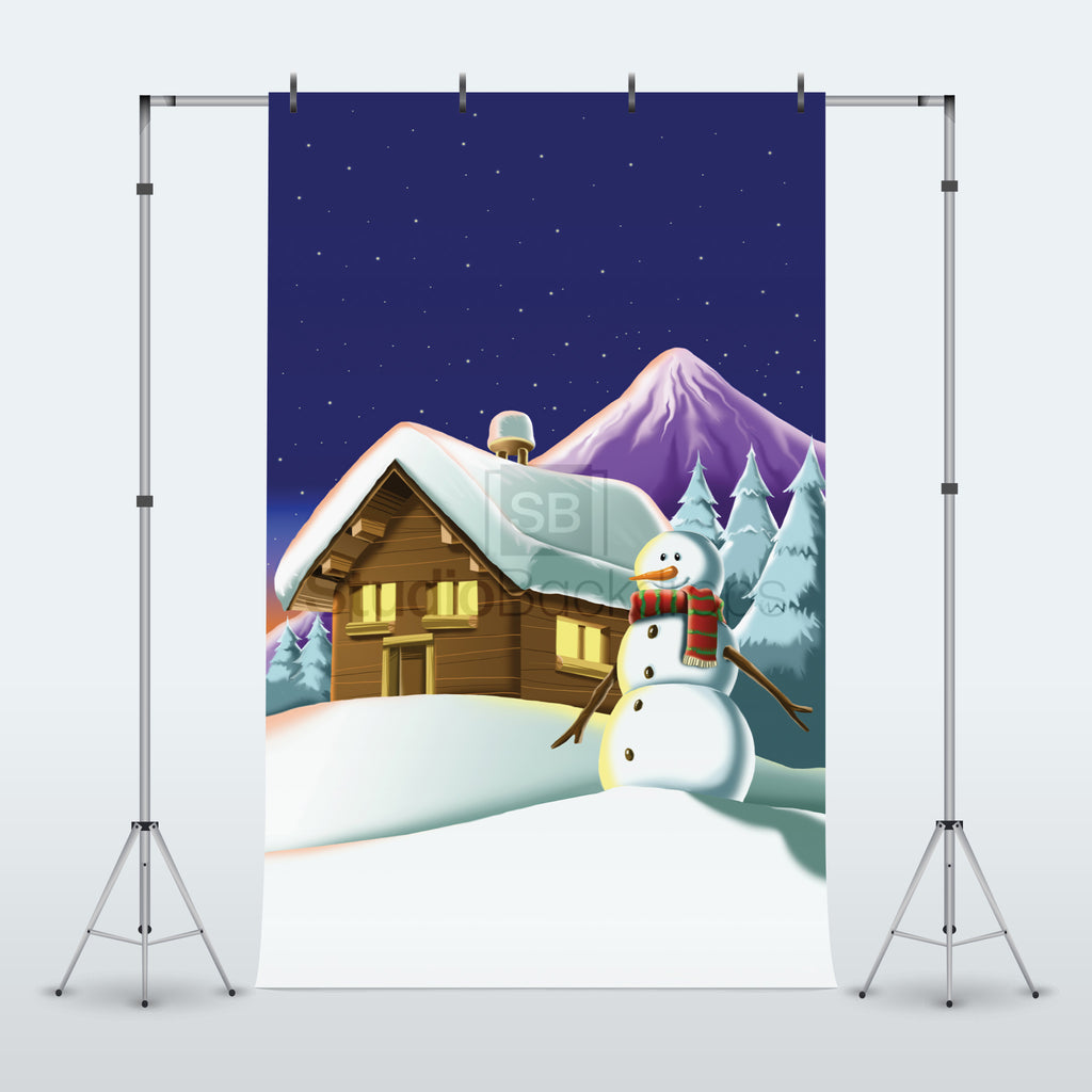 Snowman Photography Backdrop