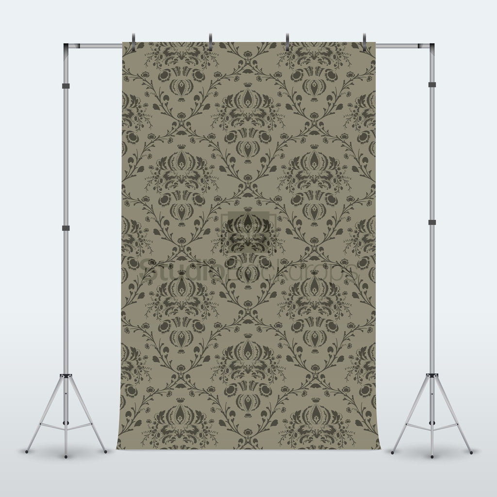 Grey Damask Photography Backdrop