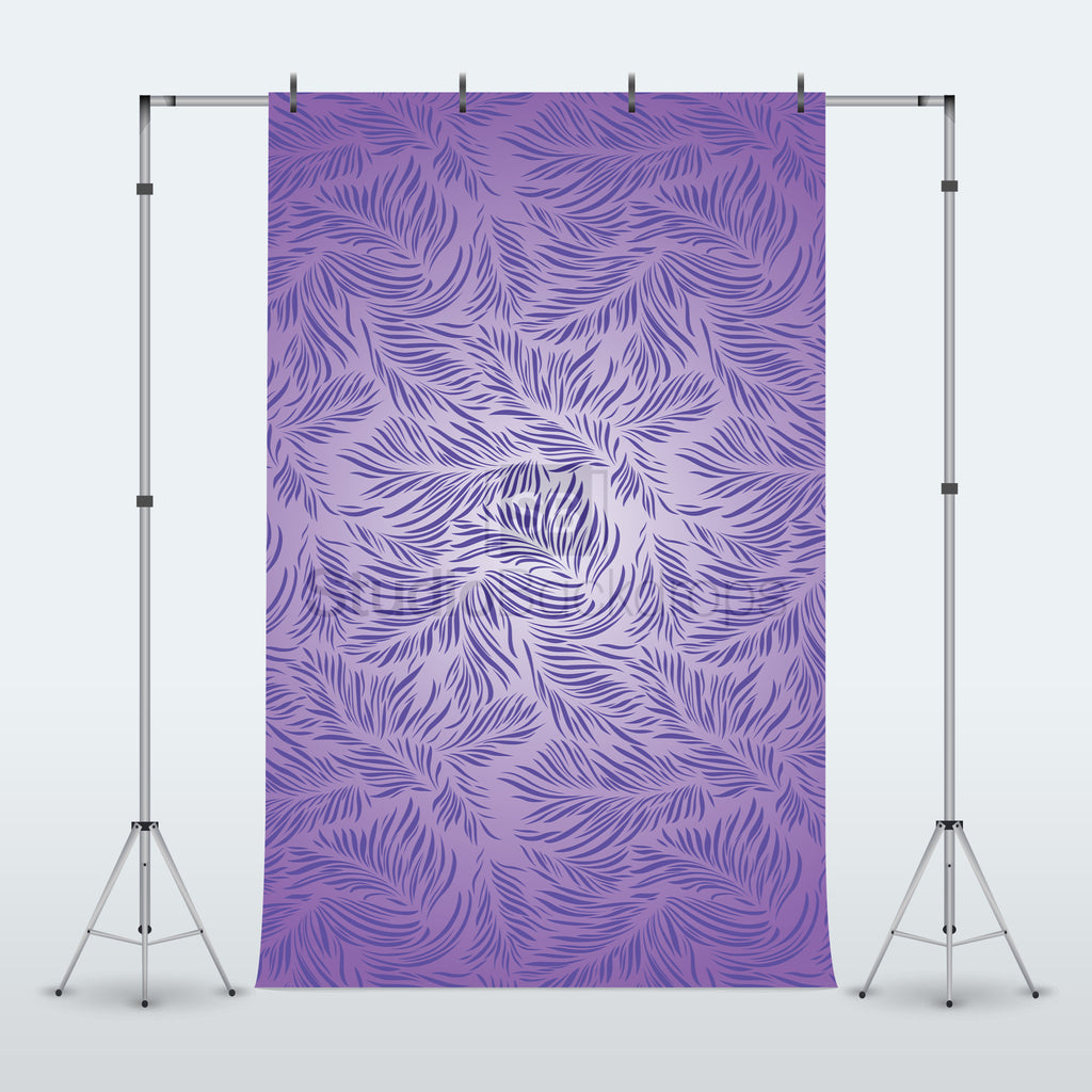 Purple Feather Photography Backdrop
