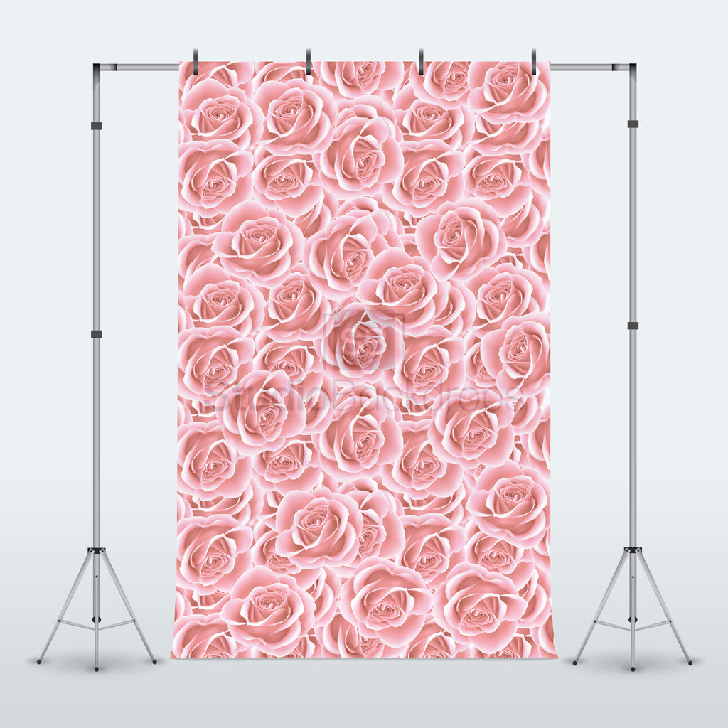 Pink Roses Photography Backdrop