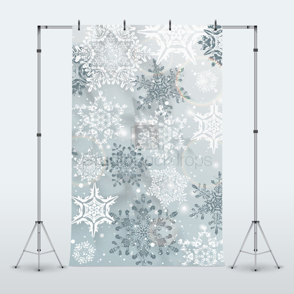 Snowflakes Photography Backdrop