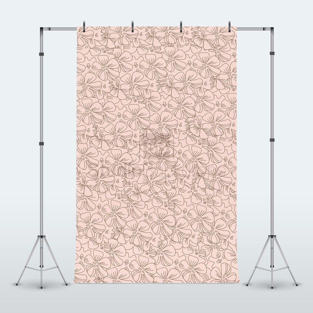 Pink Floral Photography Backdrop