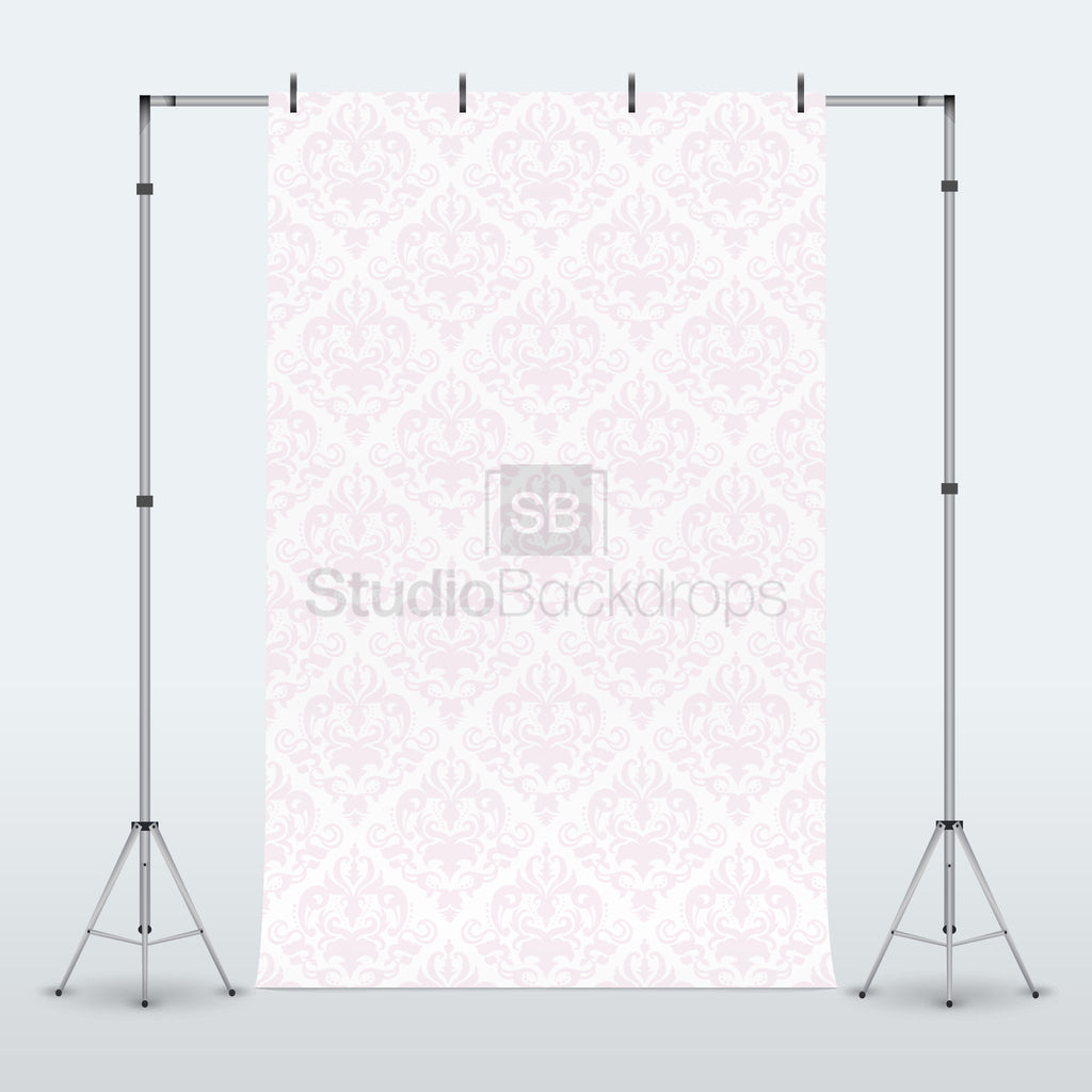 Baby Pink Damask Photography Backdrop