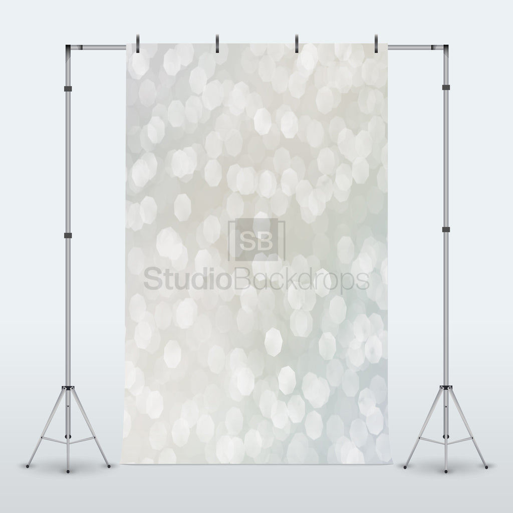 Silver Bokeh Photography Backdrop