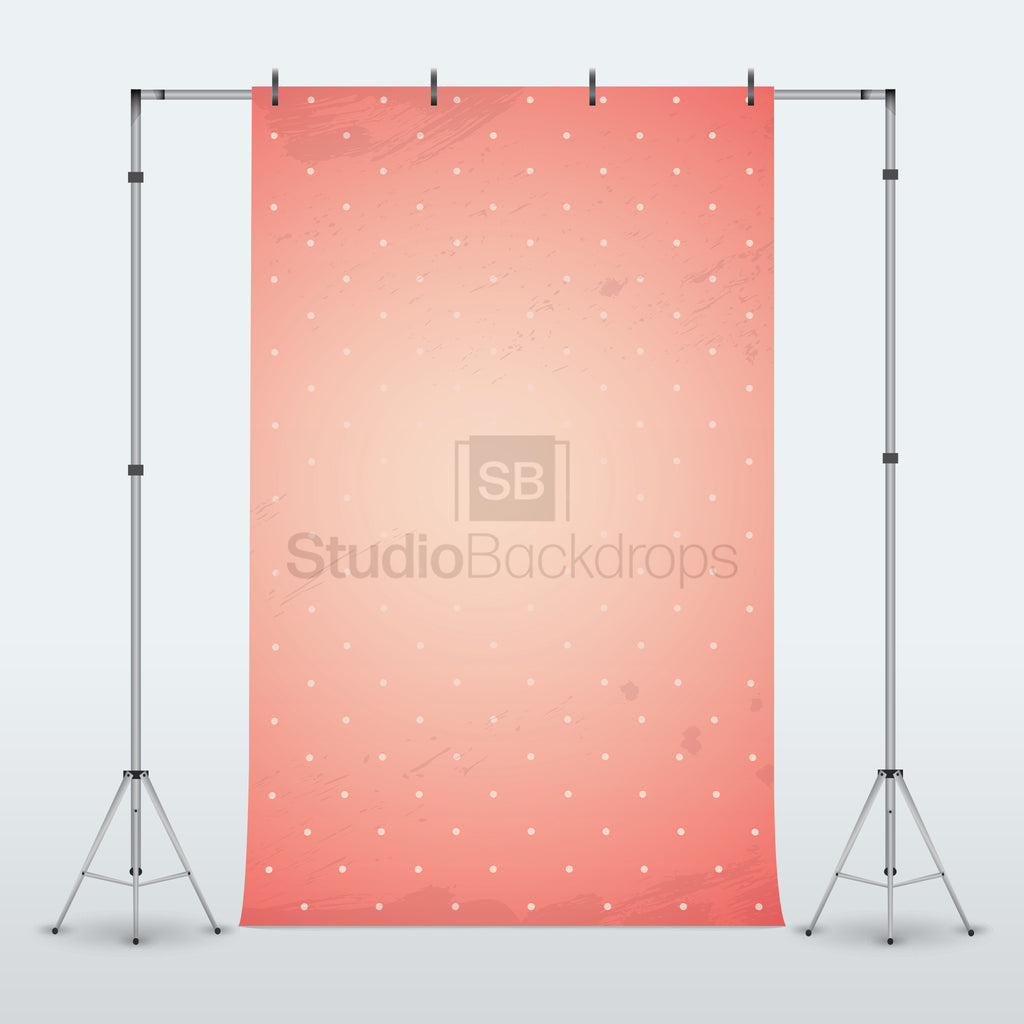 Pink Polka Dot Photography Backdrop