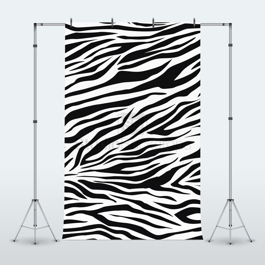 Zebra Pattern Photography Backdrop