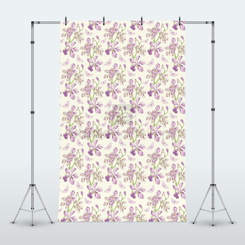 Floral Butterfly Photography Backdrop