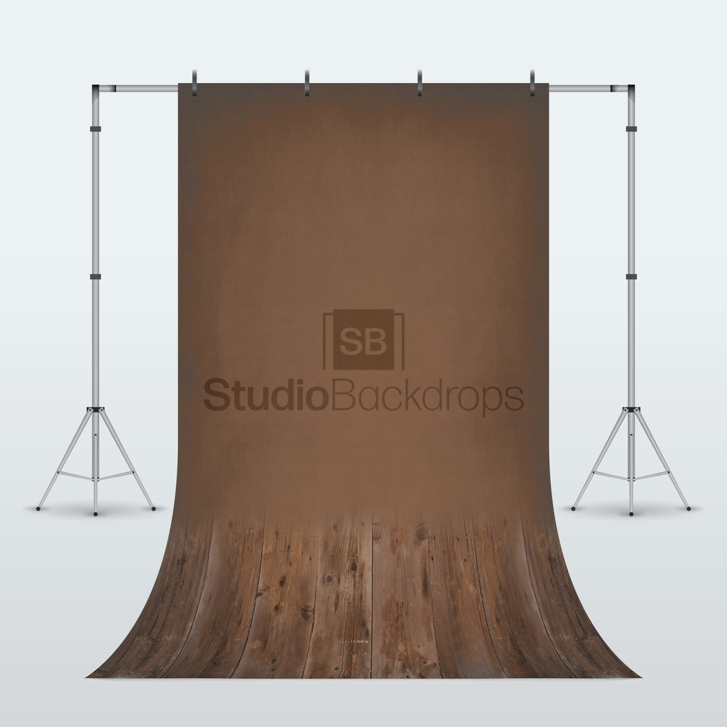 Dark Wood Duo Faded Photography Backdrop