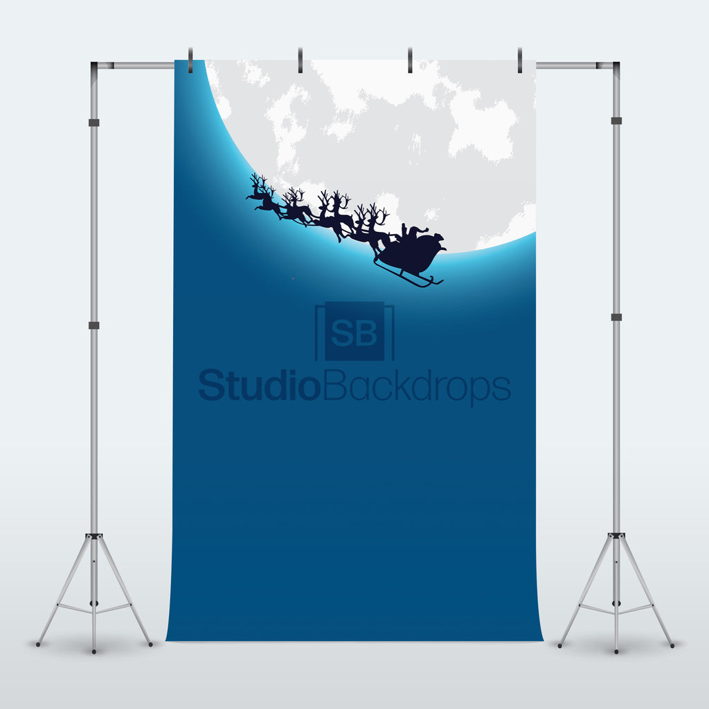 Santas Sleigh Photography Backdrop