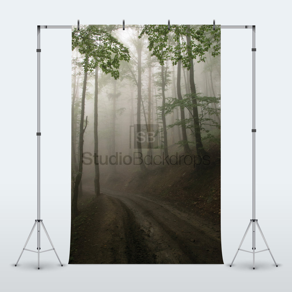 Foggy Forest Photography Backdrop