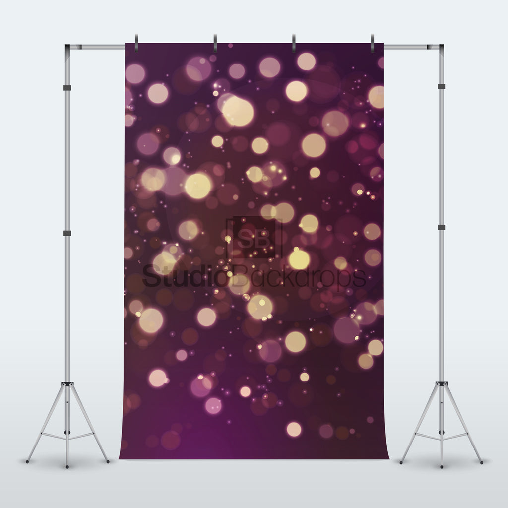 Purple Bokeh Photography Backdrop