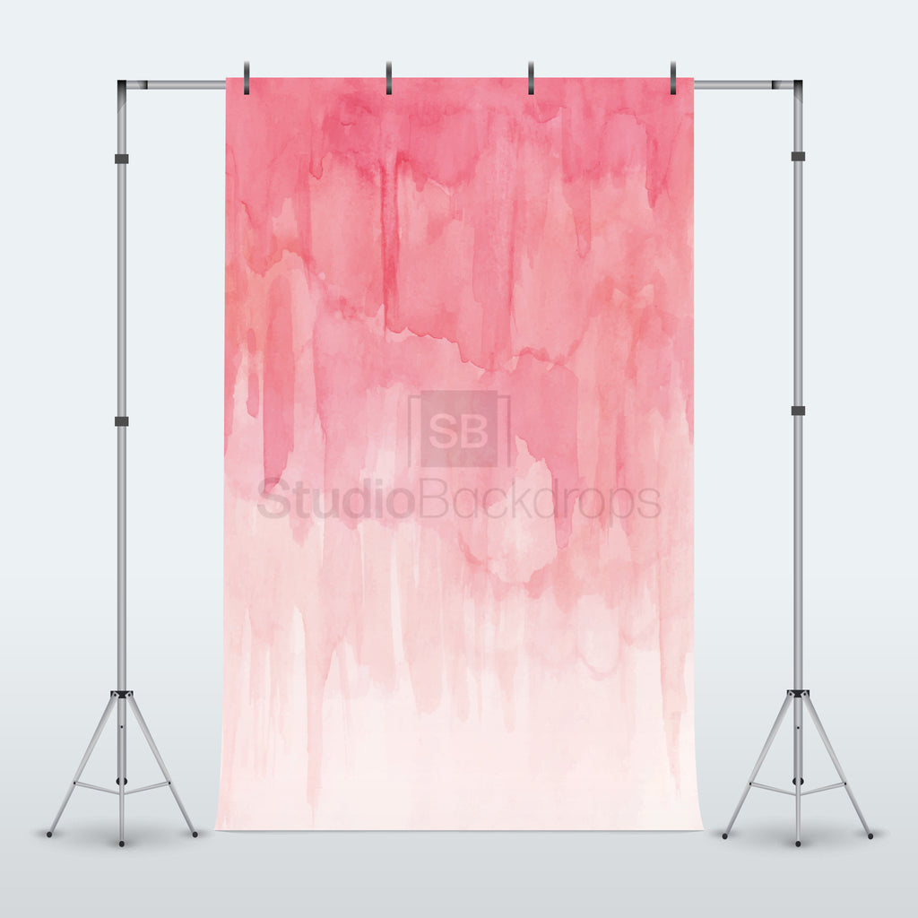 Pink Water Colour Photography Backdrop