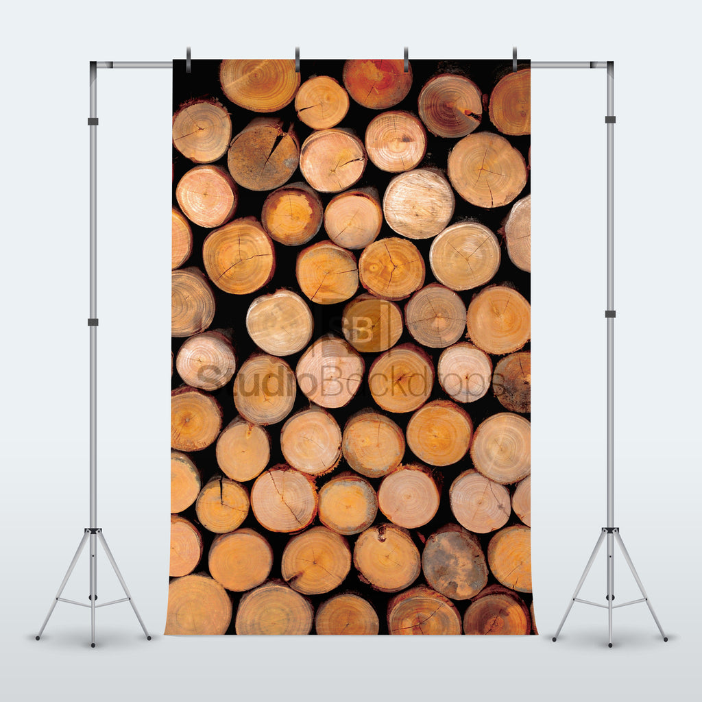 Logs Photography Backdrop