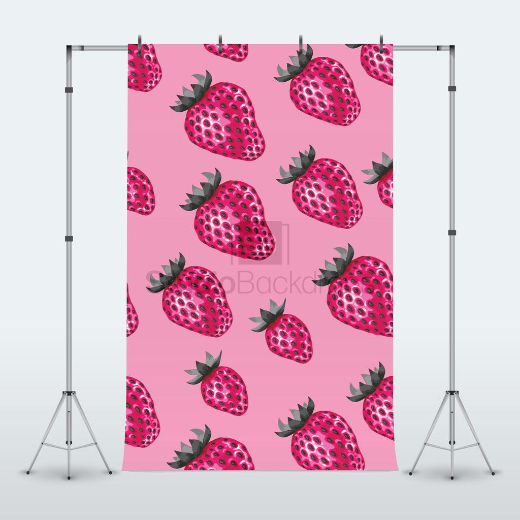 Strawberries Photography Backdrop