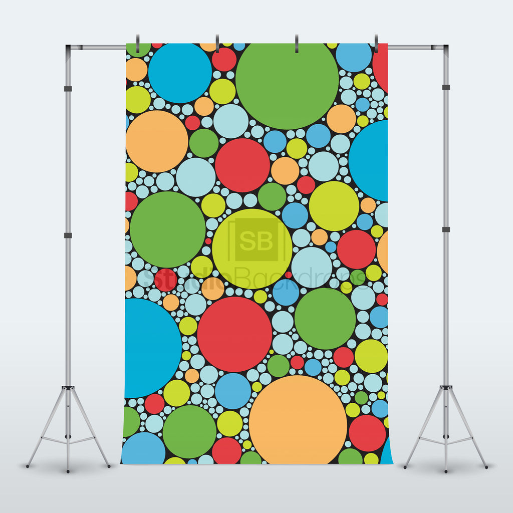 Multicoloured Dots Photography Backdrop