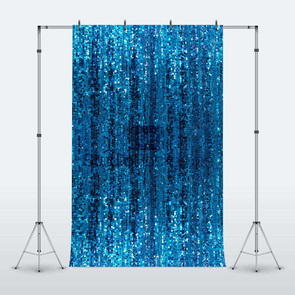 Blue Sequin Glitter Shimmer Curtain Photography Backdrop