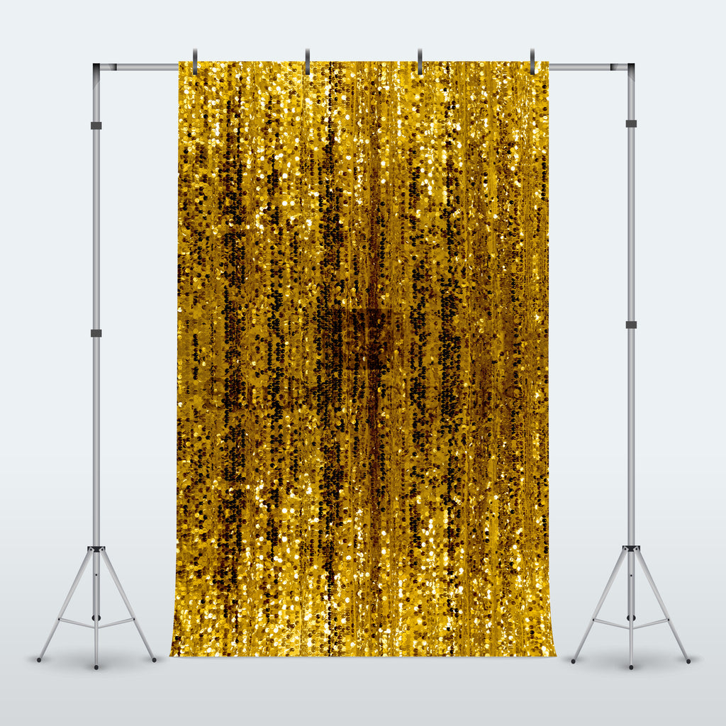 Gold Sequin Glitter Shimmer Curtain Photography Backdrop