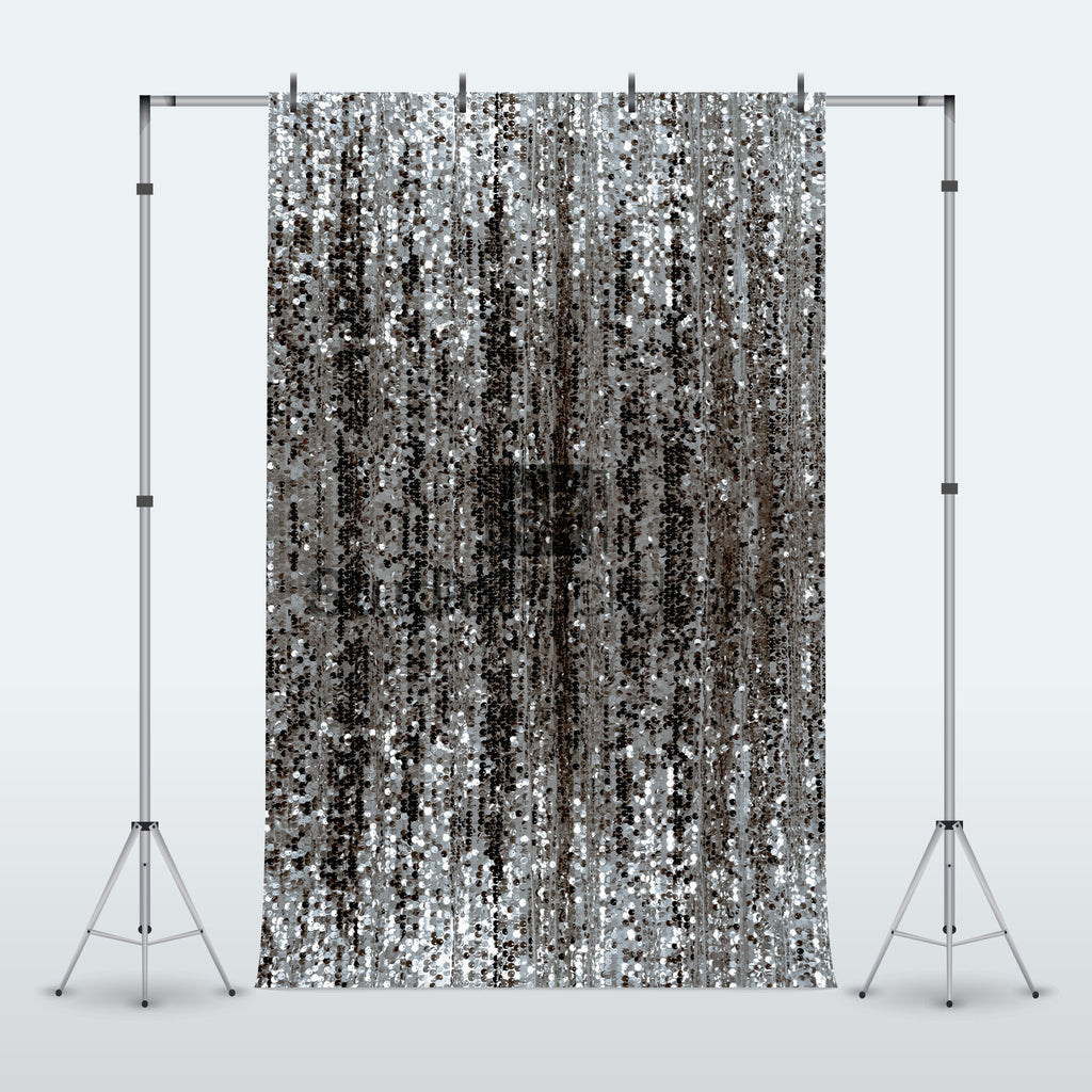 Silver Sequin Glitter Shimmer Curtain Photography