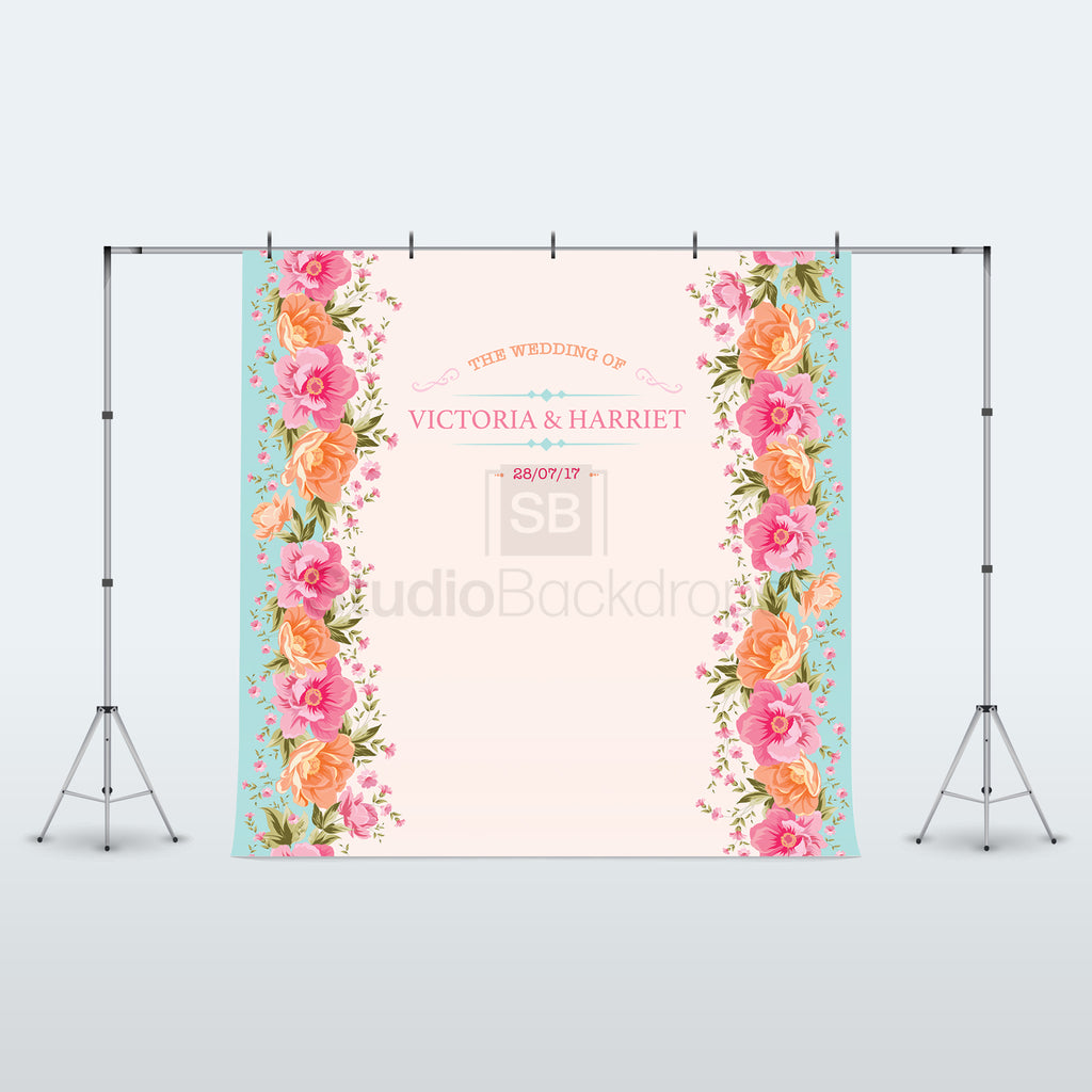 Personalised Vintage Floral Wedding Photo Booth