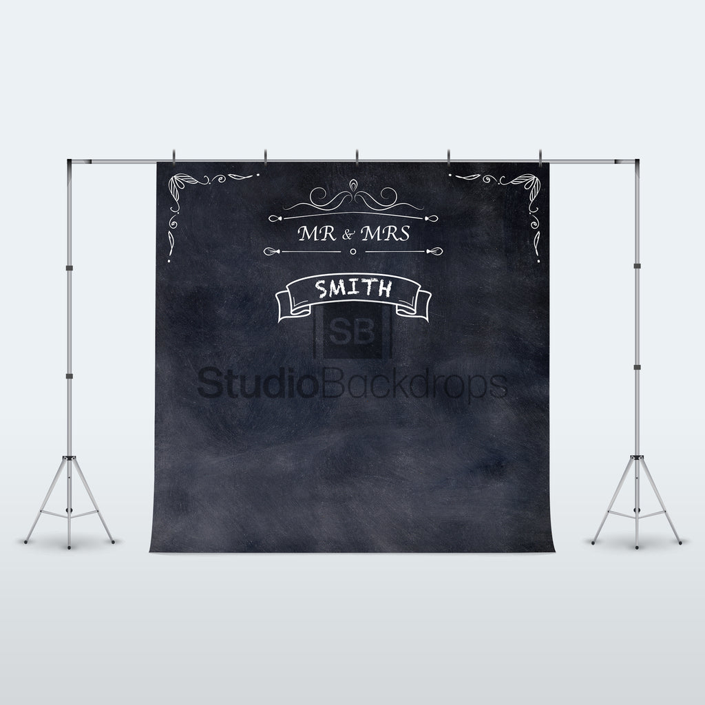 Personalised Chalkboard Wedding Photo Booth Backdrop
