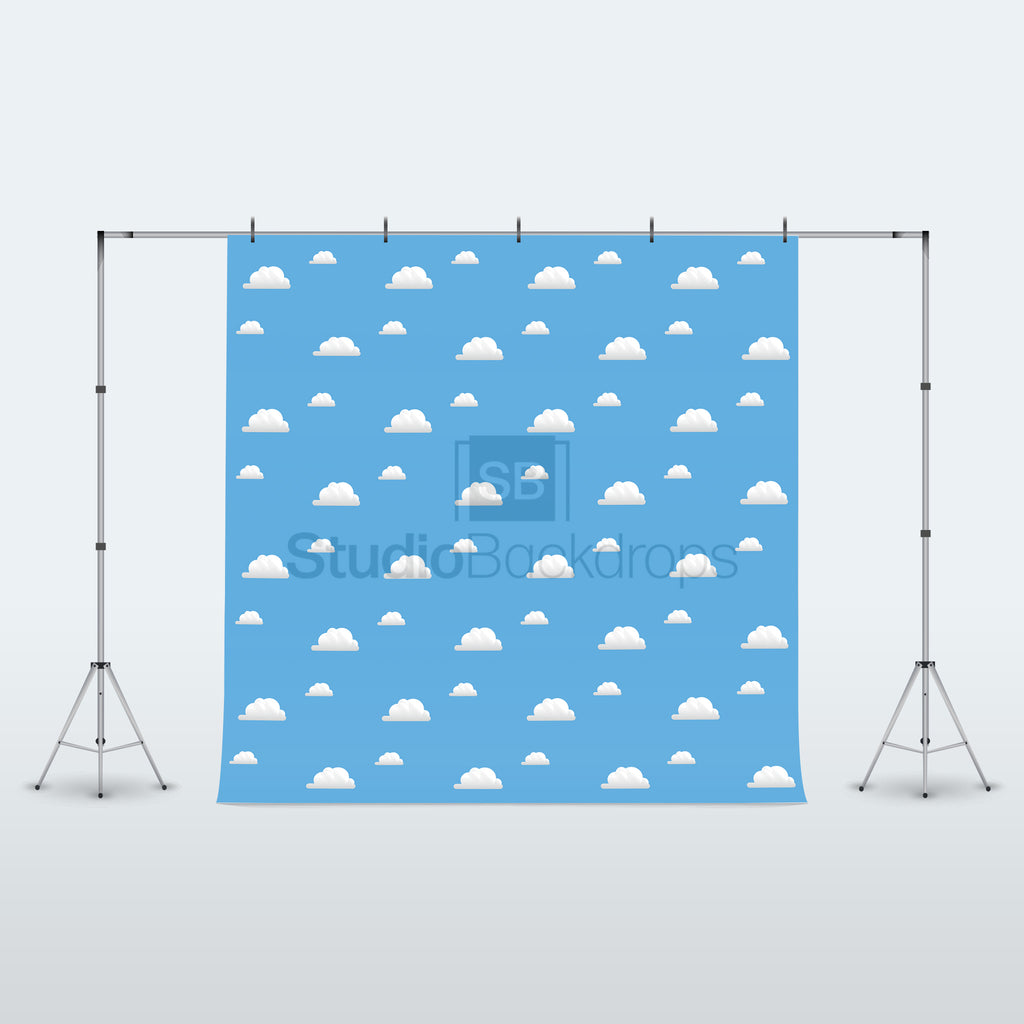 Toy Storybook Wall Clouds Photography Backdrop