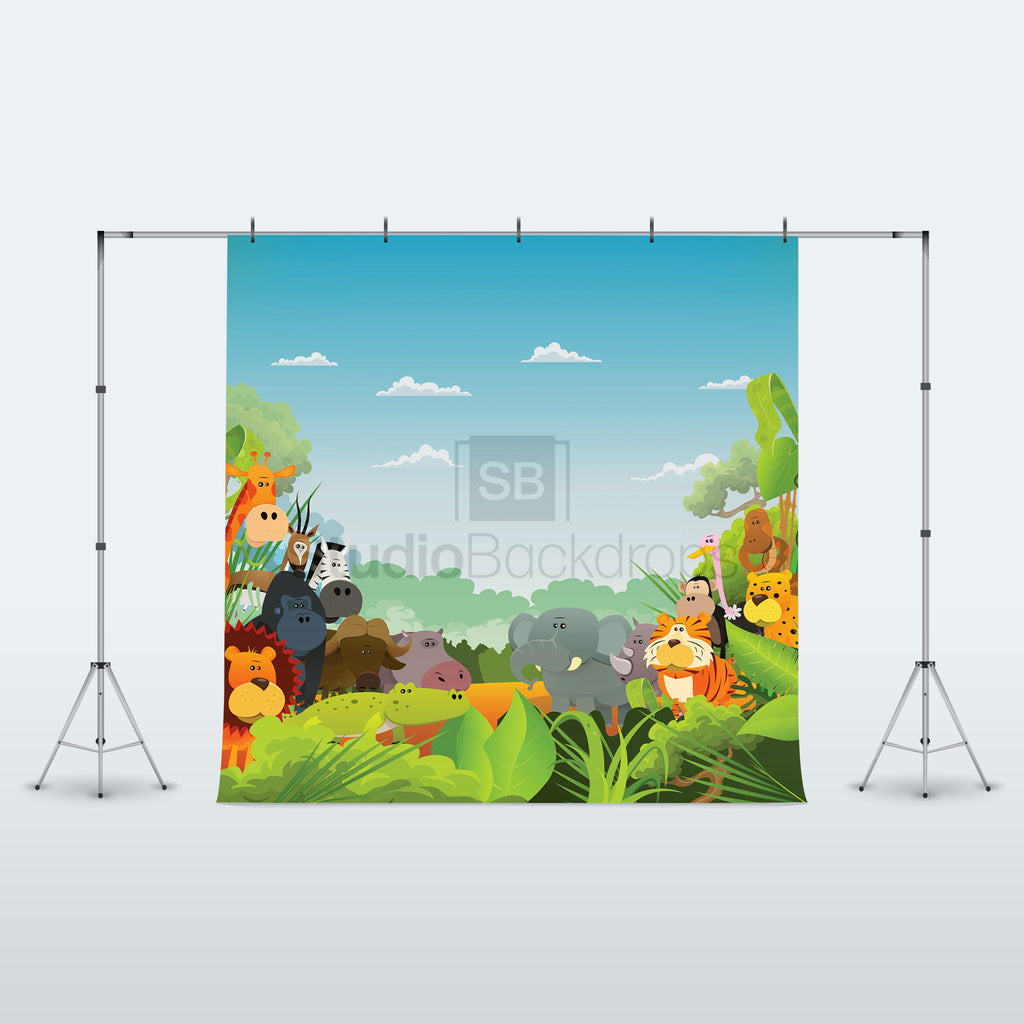 Safari Jungle Photo Booth Backdrop