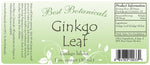 Ginkgo Leaf Extract Label