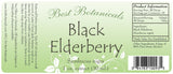 Black Elderberry Extract Label