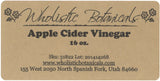Apple Cider Vinegar Label