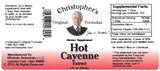 Cayenne Pepper 180 MHU Extract Label