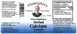 Herbal Calcium Extract Label