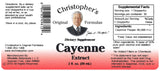 Cayenne Pepper 40 MHU Extract Label