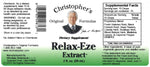 Relax-Eze Extract Label