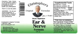 Ear & Nerve Extract Label