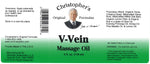 V-Vein Massage Oil Label