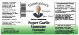 Super Garlic Immune Extract Label