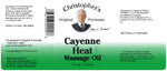 Cayenne Heat Massage Oil Label