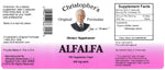 Alfalfa Leaf Capsule Label