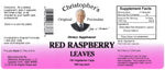Red Raspberry Leaf Capsule Label