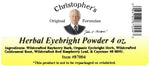 Herbal Eye Formula Powder Label