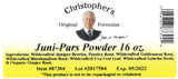 Juni-Pars Powder Label