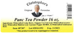 Panc Tea Powder Label