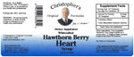 Hawthorn Berry Heart Syrup 4 oz. Label