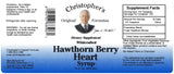 Hawthorn Berry Heart Syrup 16 oz. Label