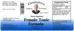 Female Tonic Formula Capsule Label